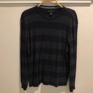 Wide stripe cotton shirt
